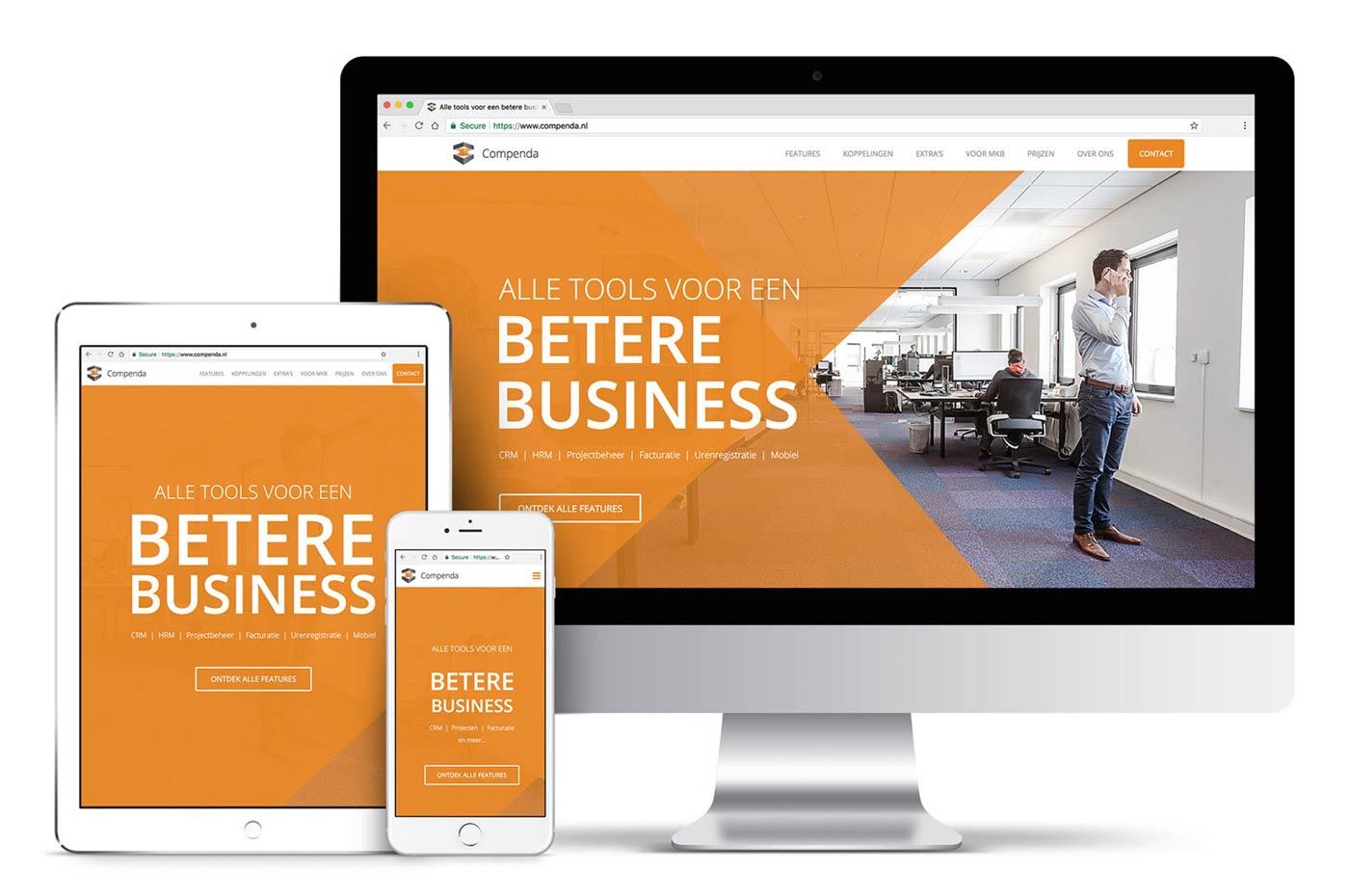 Professioneel webdesign portfolio - website van Compenda