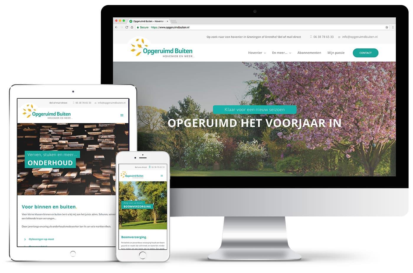 Professioneel webdesign groningen portfolio - website van Opgeruimd Buiten