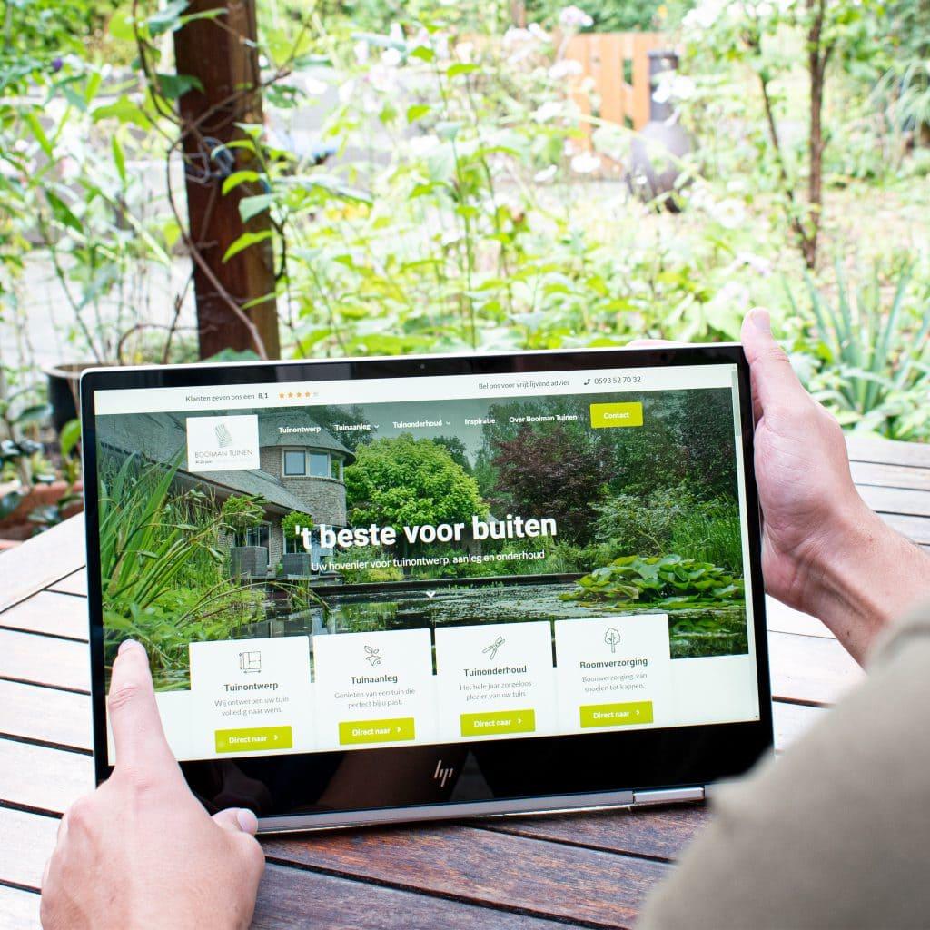 booiman tuinen nieuwe website