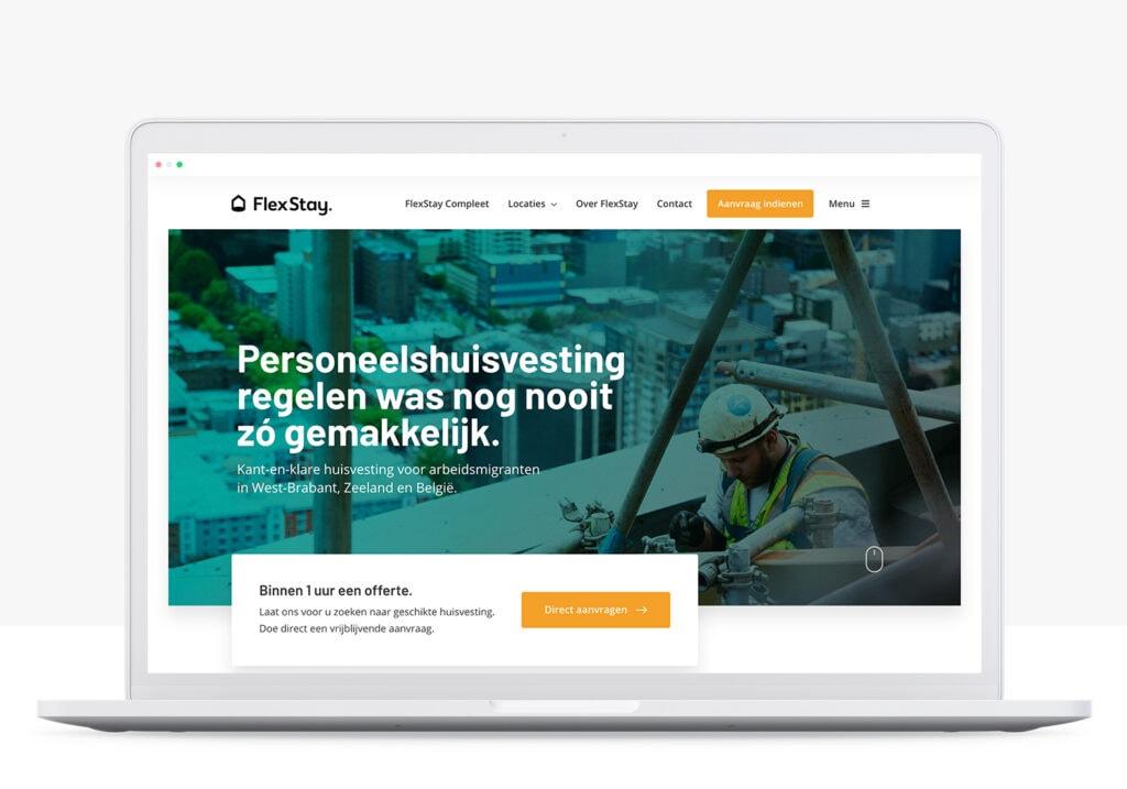 rots in branding portfolio flexstay website ontwikkeling
