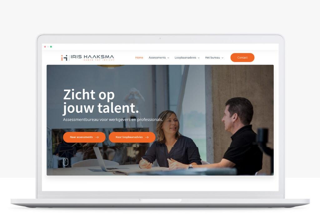 rots in branding portfolio iris haaksma website ontwikkeling